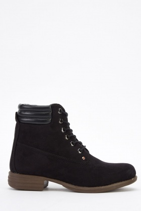 Suedette High Top Boots