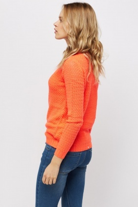 Coral Loose Knit Jumper