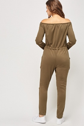 Off Shoulder Lounge Jumpsuit