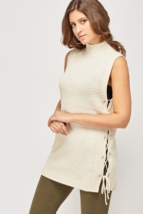 Tie Up Side Knitted Vest Top