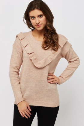 Frilled Front Jumper