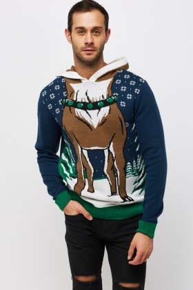 Hooded Reindeer Sweater - Just £5