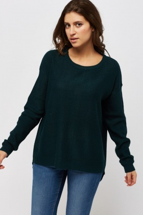 Lace Up Back Knitted Jumper