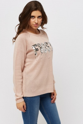 Sequin Frosty Jumper