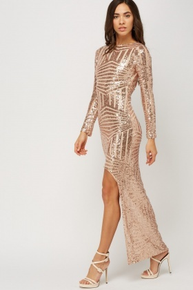 superior performance best prices beautiful style Detailed Back Sequin Maxi Dress