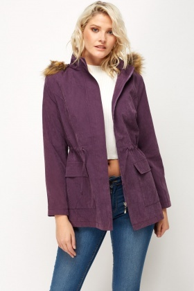 Faux Fur Hood Parka Coat - Just £5