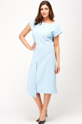 Wrap Hem Textured Dress