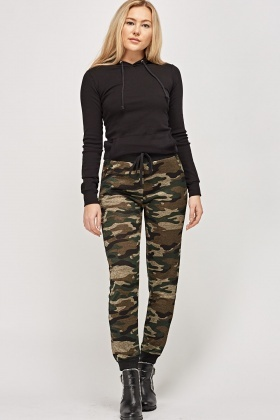 Camouflage Printed Casual Trousers