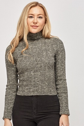 Thin Knitted Roll Neck Top