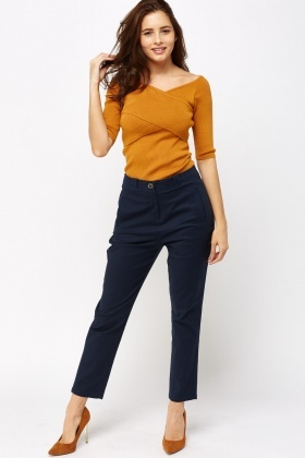 Dark Blue Chino Trousers