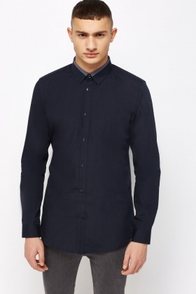 Fitted Navy Shirt