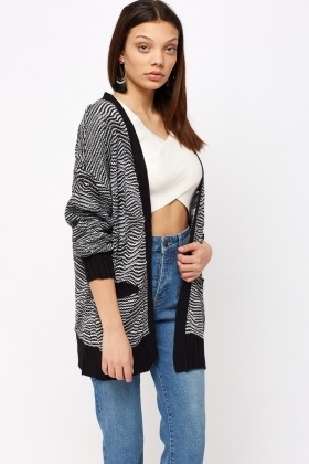 Multi Knitted Open Cardigan