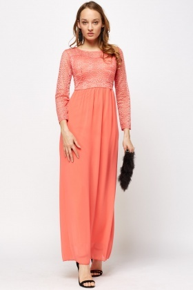 f04edcc5b0bd Crochet Coral Bodice Dress - Just £5