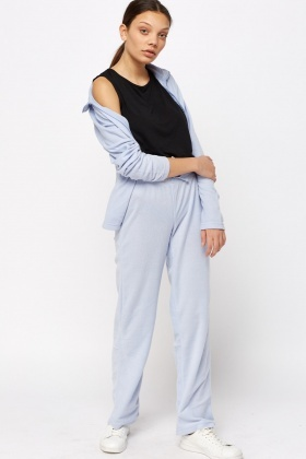 Sky Blue Jumper And Trousers Set