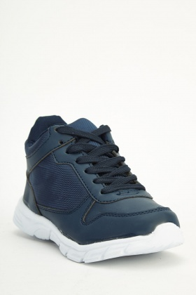 Boys Blue Contrast Trainers