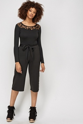 Sweetheart Cropped Jumpsuit