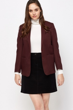 Formal Lapel Front Blazer