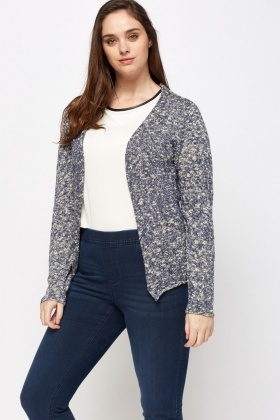 Speckled Thin Knit Cardigan