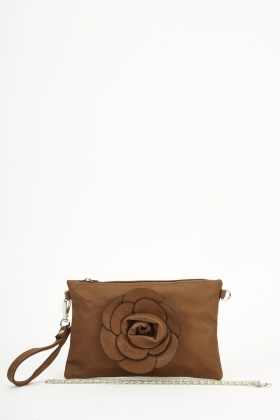 3D Rose Clutch Bag