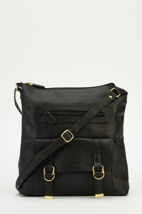Detailed Flap Pocket Shoulder Bag