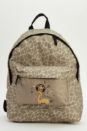 Giraffe Printed Backpack