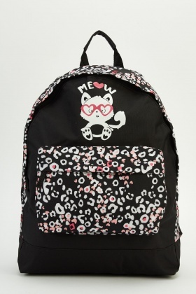 Printed Side Backpack