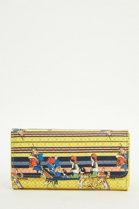 Printed Wallet Purse