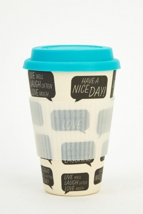 Quote Print Bamboo Eco Mug