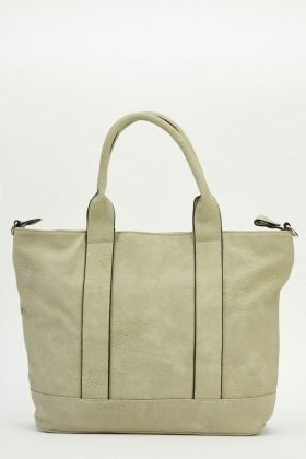 Stitched Trim Faux Leather Bag