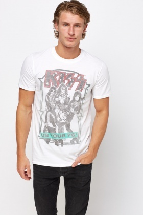 Mens Kiss Print T-Shirt