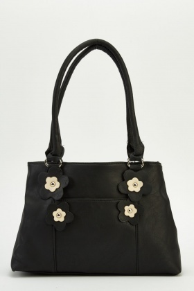 3D Floral Faux Leather Bag