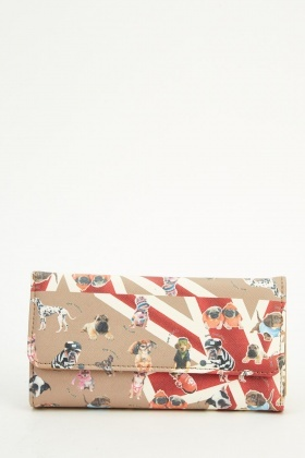 Dog Printed Union Jack Purse