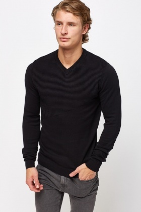 Knitted Ribbed Jumper