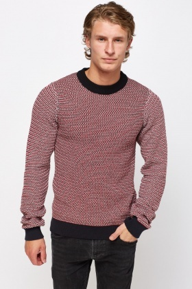 Knitted Ribbed Trim Jumper