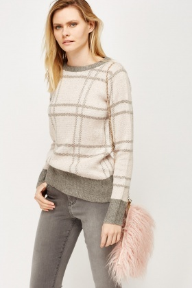 Multi Knit Light Pink Jumper