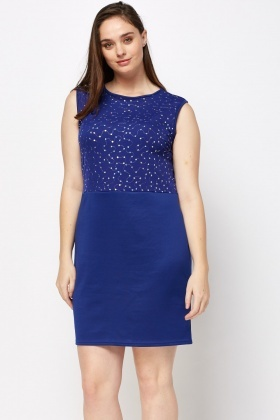 Sequin Royal Blue Dress