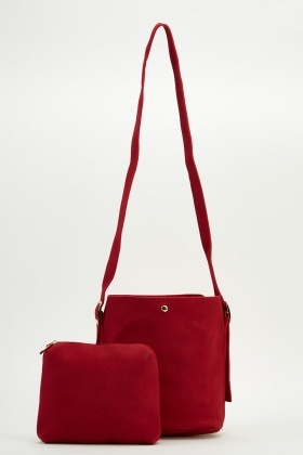2 In 1 Red Shoulder Bag