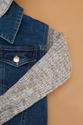 Denim Jumper Insert Kids Jacket