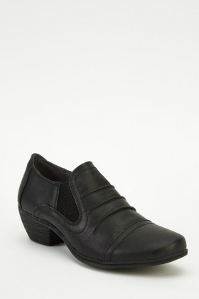 Faux Leather Heeled Shoes