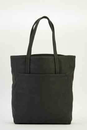 Faux Leather Tote Handbag