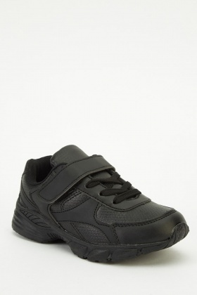 Kids Black Trainers