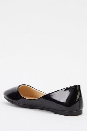 d46b7678c PVC Black Ballet Pumps - Just £5