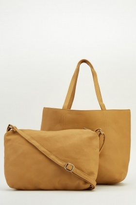 Sand Tote 2 In 1 Faux Leather Bag