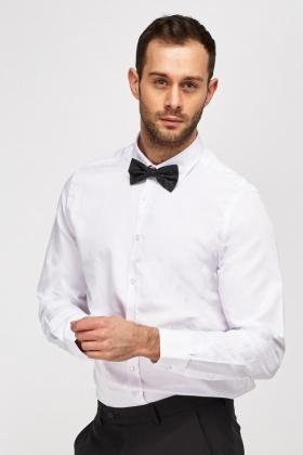 b8f54cc491c Bow Tie Neck Formal Shirt - Just £5