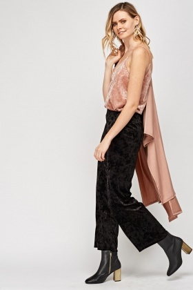 Velveteen Wide Leg Trousers