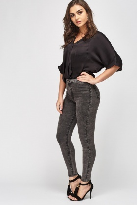 Charcoal High Waist Jeggings