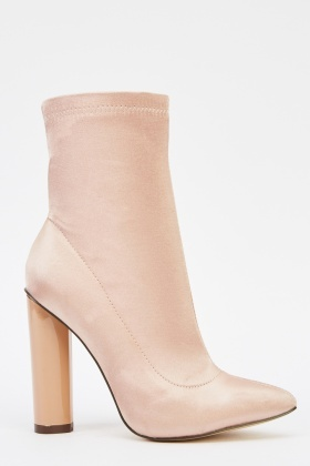 Court Sateen Heeled Boots