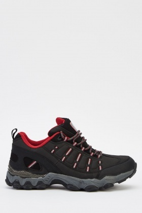 Lace Up Contrast Mens Trainers