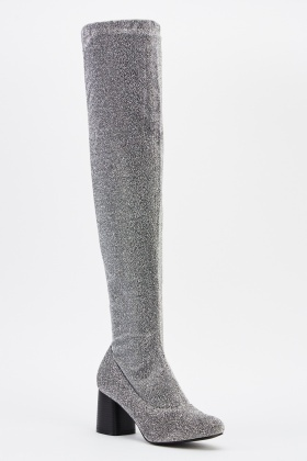 Lurex Over The Knee Boots