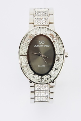 Oval Encrusted Watch